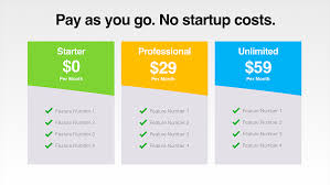 Pricing Table Templates Pricing Table Templates