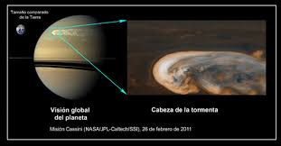 saturn s size researchers discover the mystery of saturns gigantic storm spaceref