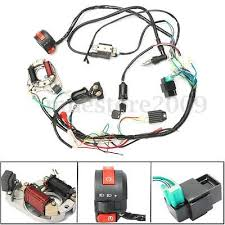 cc mini atv complete wiring harness cdi stator 50 70 90 110 125cc cdi wire harness stator assembly wiring set atv electric quad