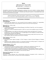 Fast Food Manager Resume Sample Perfect Resume