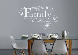 text quotes family where life begins wall stickers on quote wall art uk with family where life begins white text quotes wall stickers adhesive