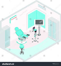 vector isometric drawing which shows medical stock vector