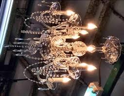 10 arm crystal chandelier