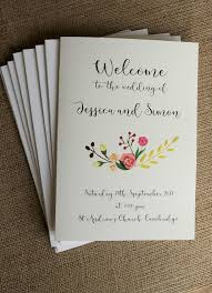 best 25 wedding booklet ideas on pinterest elegant wedding Wedding Booklet 5 x wedding order of service covers vintage personalised shabby chic church wedding booklet templates