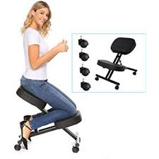 kneeling ergonomic chair. Exellent Ergonomic Modrine Ergonomic Kneeling Chair Perfect Adjustable Posture Stool For Home  And Office With Thick Comfortable Moulded Foam Cushions Black Black And Chair T