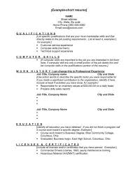 resume job title examples