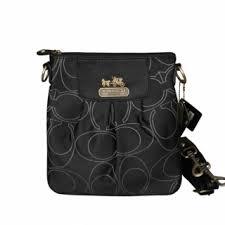 Coach Logo C Monogram Small Black Crossbody Bags EQV