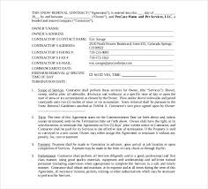 Snow Removal Bid Template 20 Snow Plowing Contract Templates Google Docs Pdf Word
