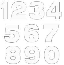 number templates 1 10 20 free various number template diy crafts free pattern