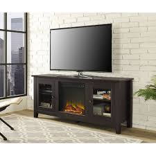 wood tv stand with fireplace for tvs up to 60 multiple finishes com