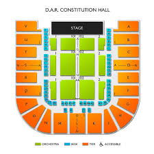 Dar Constitution Hall 2019 Seating Chart