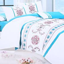 dream lotus 500 thread count 6 piece bedding set king size blue and white souq uae