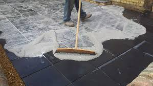 pointing and repointing patio slabs and