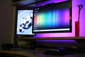 led lighting in home. Using LED Lighting Behind Workstation Monitors Led In Home