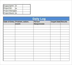 excel work log template daily job log template excel delli beriberi co