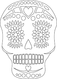printable Day of the Dead Skulls Coloring Pages | Printable Day ...