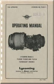 Lycoming T53 Turboshaft Aircraft Engines Operating Manual No T-5309-1