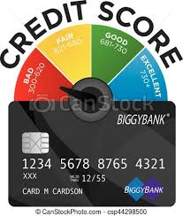 Credit Score Pie Chart Credit Score Chart Or Pie Graph With Realistic Credit Card