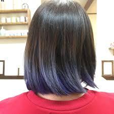 黒髪グラデーションヘア18選毛先のカラーもボブミディアム Belcy