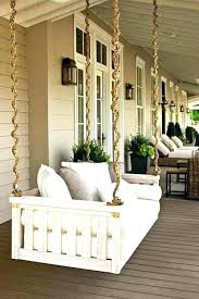 outside swing bed porch building plans cushion diy hanging