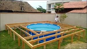 above ground pool deck kits. Above Ground Swimming Pool With Deck Decks Plans  . Kits