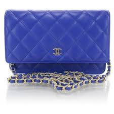 chanel bags blue. fashionphile - chanel lambskin quilted wallet on chain woc royal blue new chanel bags i