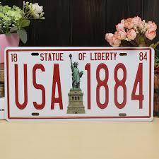 Retro Kitchen Wall Decor 305x155cm Fashionable Usa Statue Of Liberty Metal Poster Bar Pub