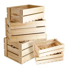 wooden retail display boxes five piece set