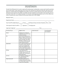 Paid Time Off Form Template Paid Time Off Form Template Letscookvegan Info