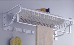 Bathroom accessories Marble Aluminium Towel Rack Single Bar Bathroom Basket Bathroom Accessories Cloth Rack Multifunction Rack Hooks Pepperfry Buy Aluminium Towel Rack Single Bar Bathroom Basket Bathroom
