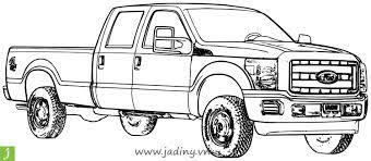 Bộ tranh tô màu xe tải cực đẹp cho các bé - Jadiny