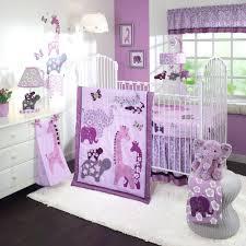 decoration lavender and green crib bedding adding cute purple elephants for nursery room decoration ideas