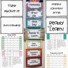 Editable Clip Up Down Behavior Chart With Behavior Calendar