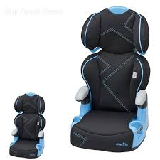 evenflo amp booster seat high back kids booster car seat blue angles new