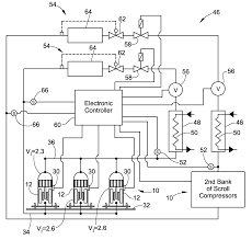patent us20100186433 scroll compressors different volume patent drawing