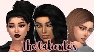 The Caliente's Makeover + Pregnant Katrina - Sims 4 CAS + CC List - YouTube