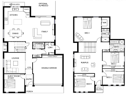 residential floor plans. Engaging House Plans Two Story : Plan Storey Residential Floor Home Design Decor