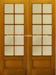china rustic double wood tempered glass