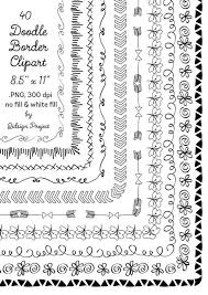 40 hand drawn frames doodle borders digital frames clipart teacher clip art mercial use instant writing teacher clip art doodle borders