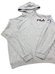 fila 1 4 zip. image of vintage fila 1/4 zip up hoodie, size large 1 4 e