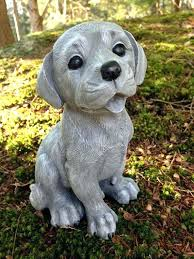 chocolate lab statue dog yellow black retriever painted garden idea welcome statu