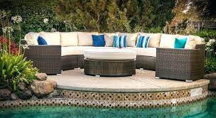 curved wicker patio sofa outdoor furniture mar 5 piece deep seating modular set home rattan curved wicker patio sofa