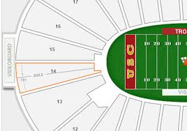 Usc Football Seating Chart 2018 Rams Usc Los Angeles Memorial Coliseum Seating Chart