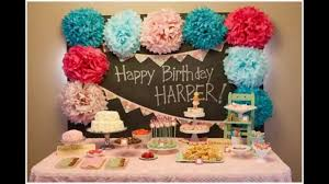 home design baby girl first birthday party decorations at home