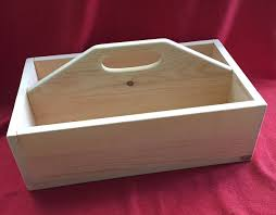 divided wooden tool box