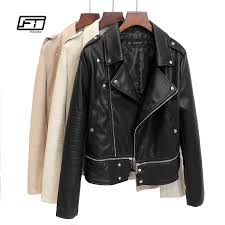 2018 fitaylor autumn women faux leather jacket patchwork slim motorcycle jacket black pink leather er coats from maoyili 48 3 dhgate com