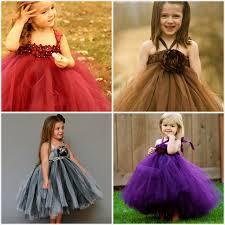 diy tulle flower girl dresses