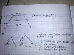 Demikian pembahasan materi kita kali ini mengenai soal try out matematika kelas 9. Soal Matematika Kelas 9 Semester 1 Bab Kesebangunan Dan Kongruensi Please Jawab Besok Brainly Co Id