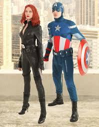 captain america and black widow costume