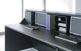 linea linear countertop reception desk